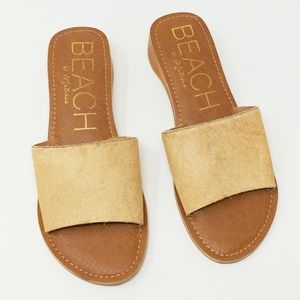 BEACH BY MATISSE Leather Havana Slide Sandal